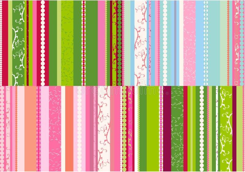 Vector de los diseños de las rayas libre illustration