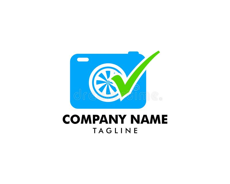 Vector de los diseños del logotipo del control de la fotografía, concepto de diseños del logotipo de la cámara stock de ilustración