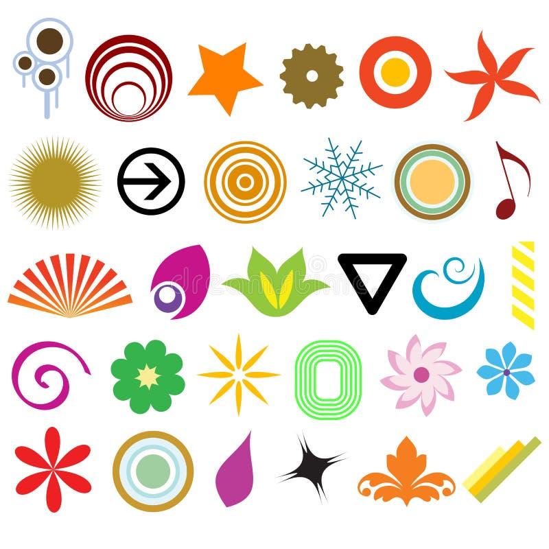Vector de los elementos del diseño ilustración del vector