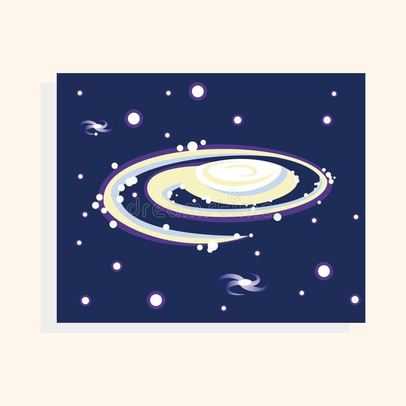 Vector de los elementos del tema de la galaxia del espacio, EPS ilustración del vector