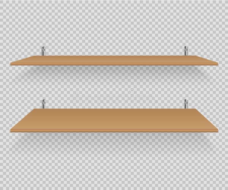 Vector de los estantes stock de ilustración