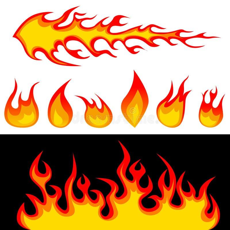 Vector de los gráficos del fuego ilustración del vector