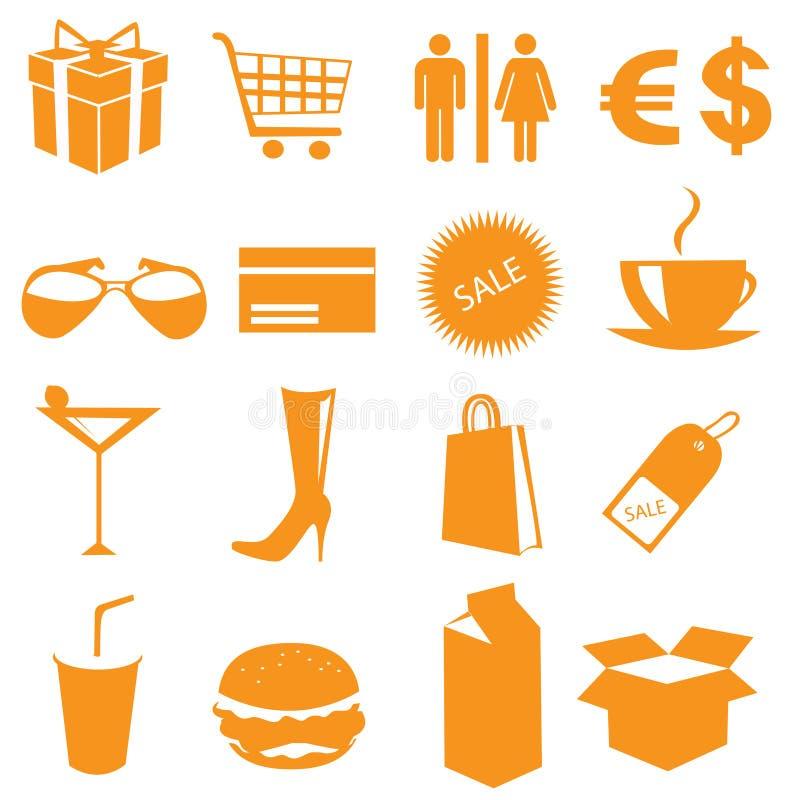 Vector de los iconos de las compras libre illustration