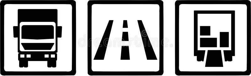Vector de los iconos del camión stock de ilustración