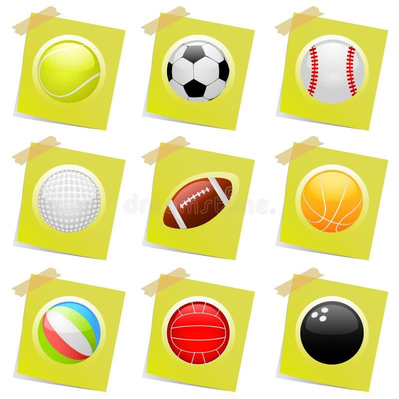 Vector de los iconos del deporte libre illustration