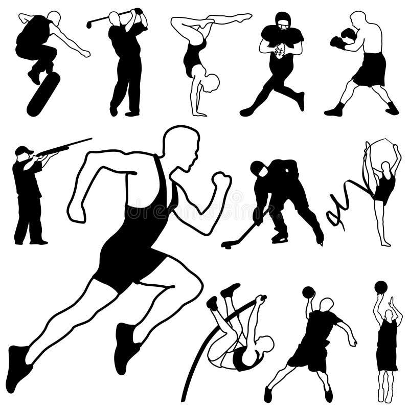 Vector de los iconos del deporte ilustración del vector