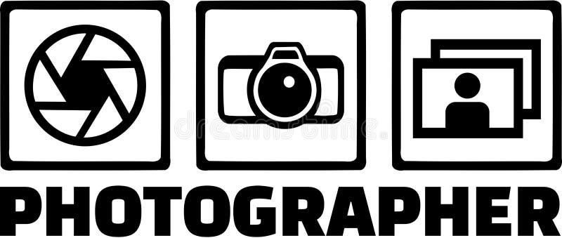 Vector de los iconos del fotógrafo ilustración del vector