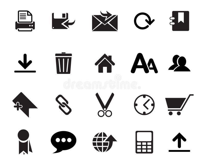 Vector de los iconos del web ilustración del vector