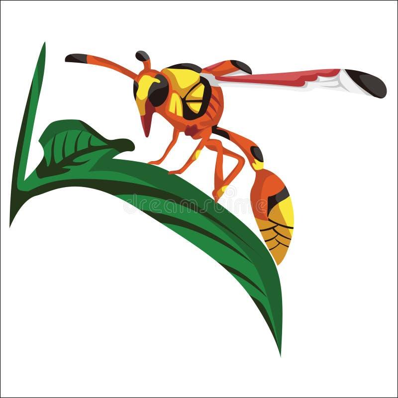 Vector de los iconos hermosos de las abejas ilustración del vector