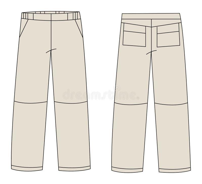 Vector de los pantalones libre illustration