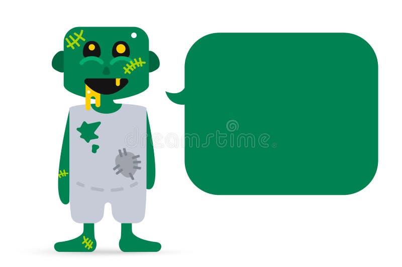 Vector de los personajes de dibujos animados del zombi del monstruo ilustración del vector
