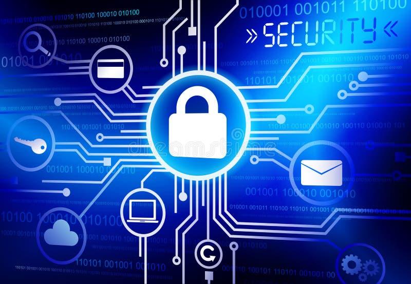 Vector de los sistemas de seguridad de Internet ilustración del vector