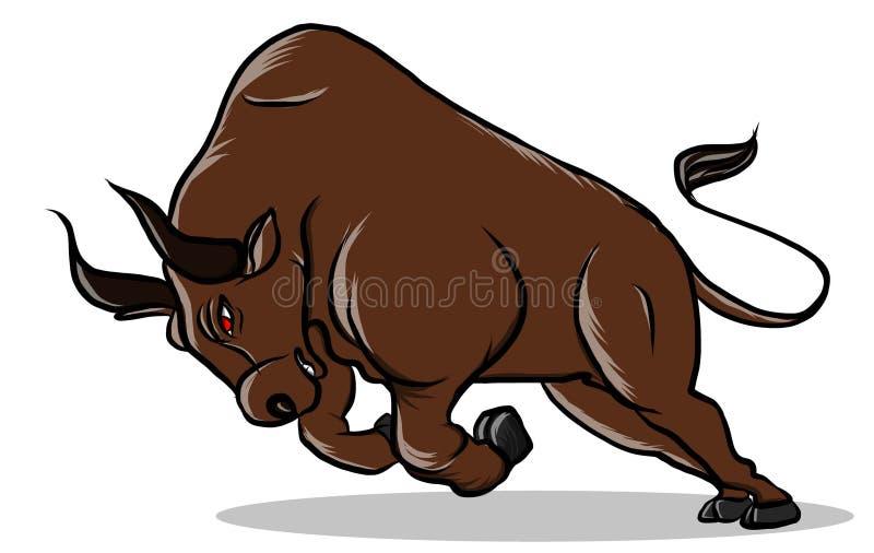Vector de los toros de la acción del diseño de carácter ilustración del vector