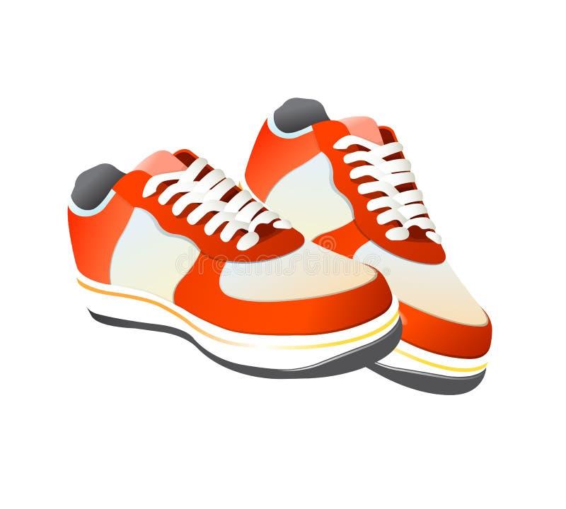 Vector de los zapatos de gimnasia del tenis ilustración del vector