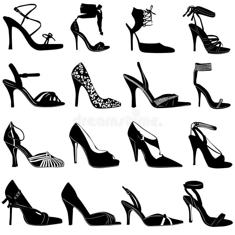 Vector de los zapatos de las mujeres de la manera stock de ilustración