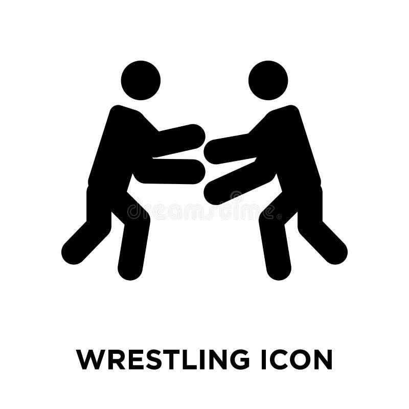 Vector de lucha del icono aislado en el fondo blanco, concepto del logotipo stock de ilustración