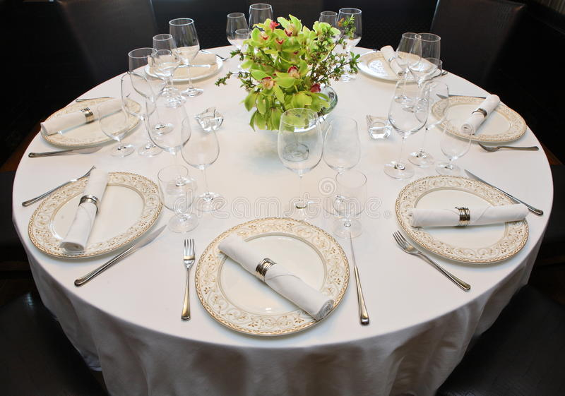 Vector de lujo fijado para una cena imagen de archivo libre de regalías