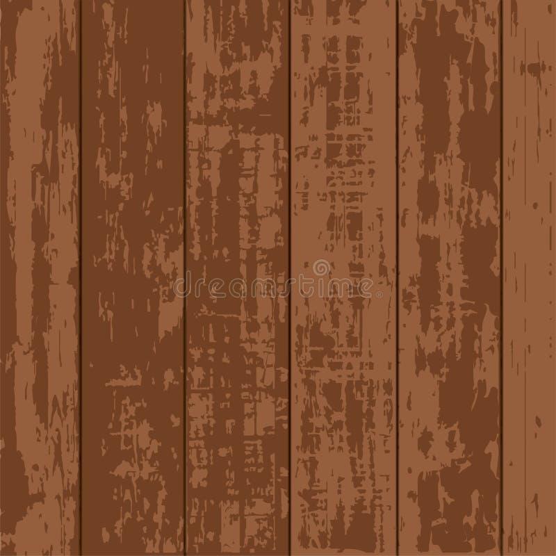 Vector de madera simple del tablón de Brown fotos de archivo
