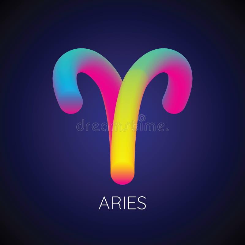 Vector de mezcla del color de la muestra del zodiaco del aries libre illustration