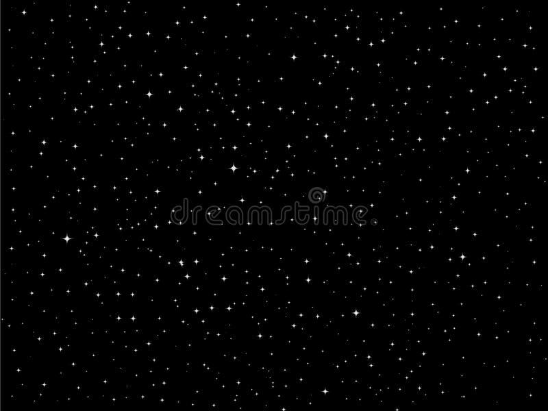 Vector de nachthemel van sterren stock illustratie