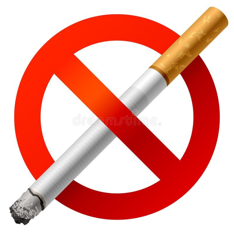 Vector de no fumadores stock de ilustración