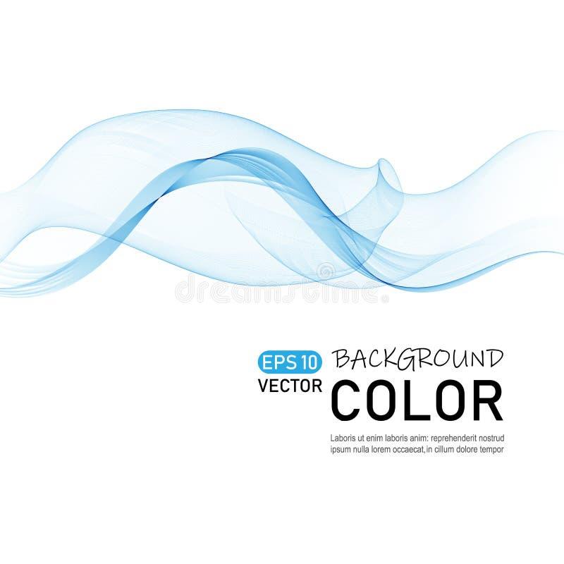 Vector de onda abstracto del color Línea flujo dinámico de la curva stock de ilustración