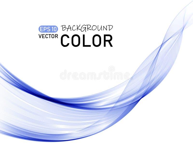 Vector de onda abstracto del color Línea flujo dinámico de la curva libre illustration