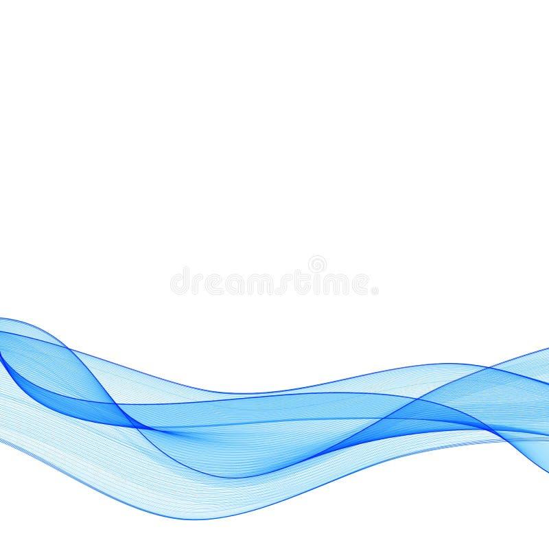Vector de onda liso abstracto del color Ejemplo azul del movimiento del flujo de la curva Dise?o del humo L?neas del vector EPS 1 libre illustration