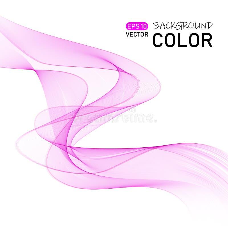 Vector de onda liso abstracto del color Ejemplo del movimiento del rosa del flujo de la curva libre illustration