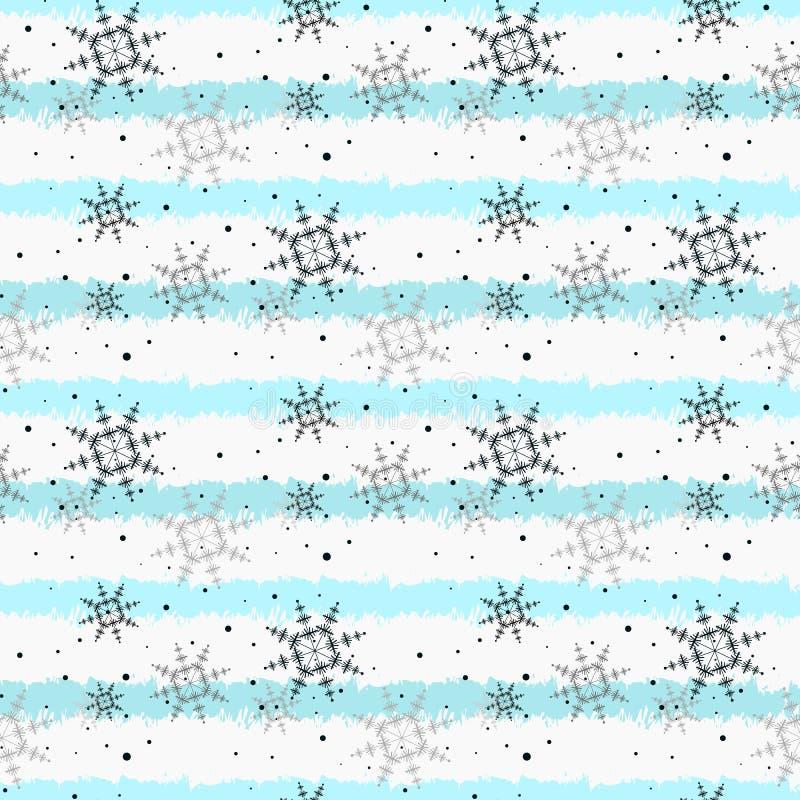 Vector de papel decorativo del fondo de las vacaciones de invierno de la Feliz Navidad del modelo inconsútil del copo de nieve y  stock de ilustración