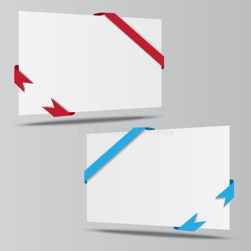 Vector de papel isométrico vacío de las cintas del whith de la hoja stock de ilustración