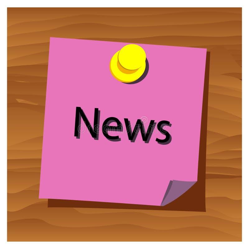Vector de papel de las noticias de la palabra del recordatorio Ilustración del vector ilustración del vector