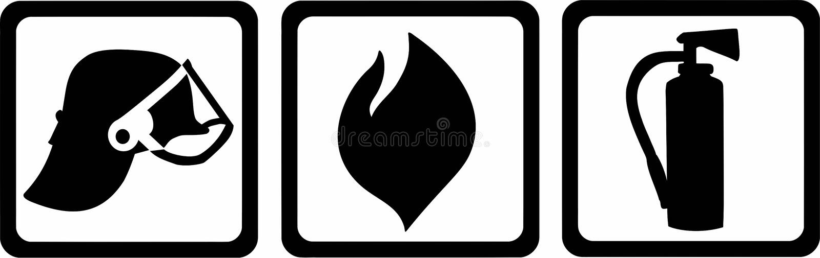 Vector de Pictogram del bombero libre illustration