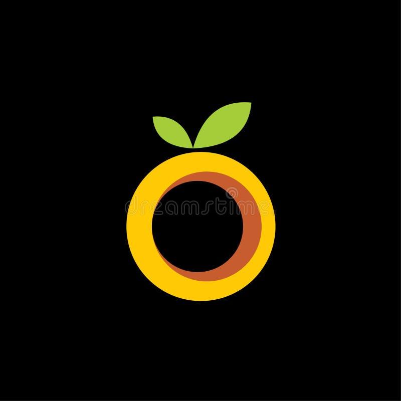 Vector de plantilla de logotipo de frutas naranja stock de ilustración