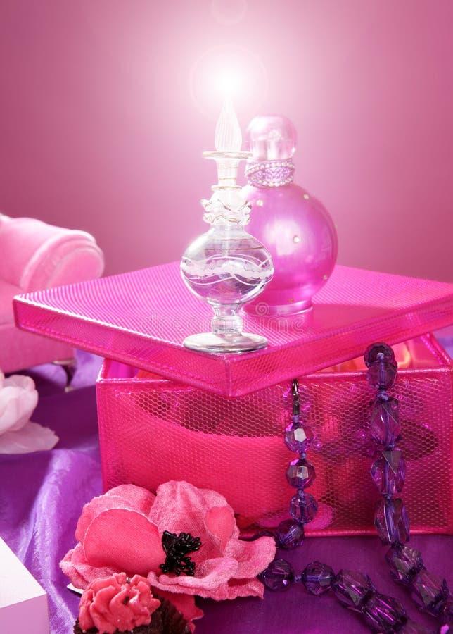 Vector de preparación de la vanidad del maquillaje de la manera del estilo de Barbie fotografía de archivo libre de regalías