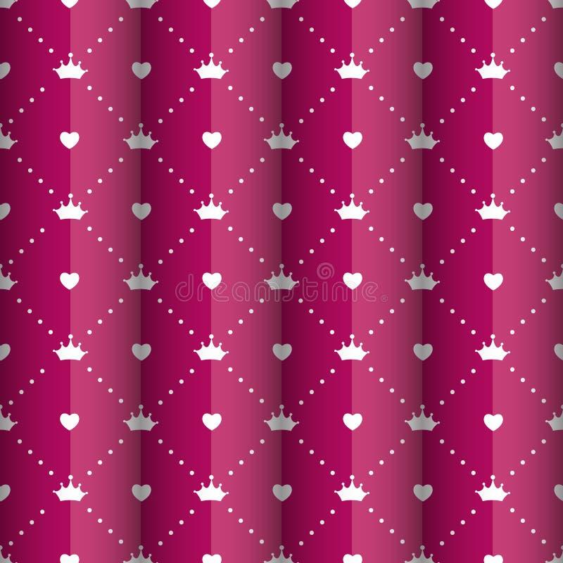 Vector de princesa Seamless Pattern Background stock de ilustración