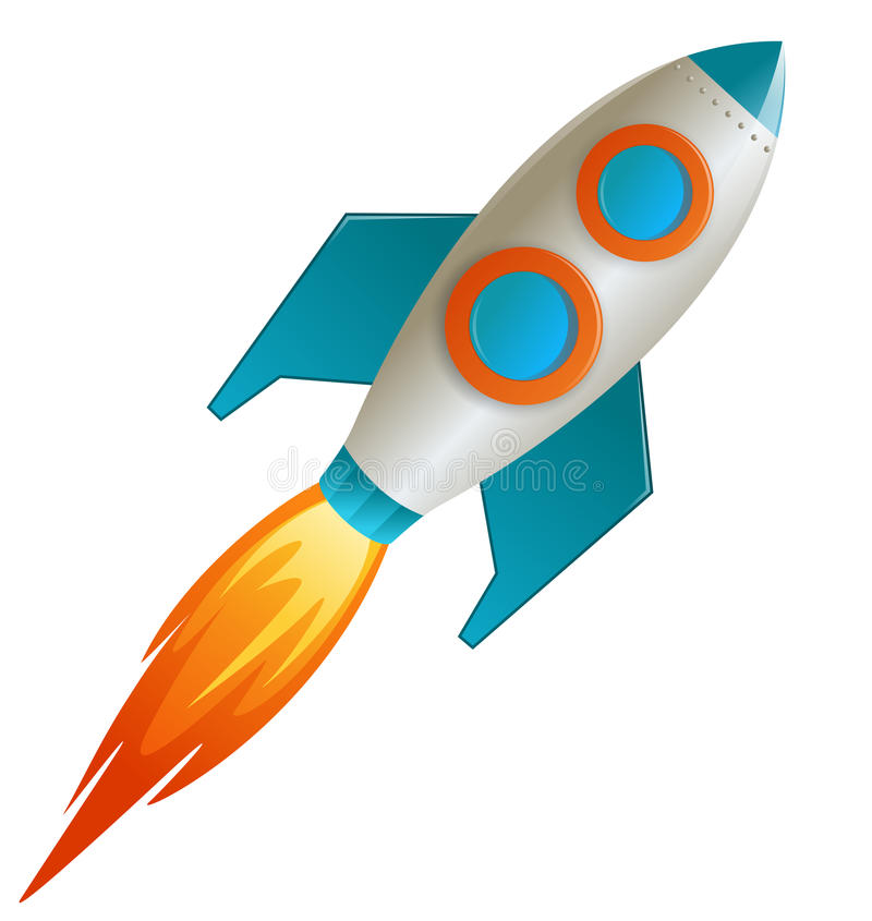 Vector de Rocket stock de ilustración