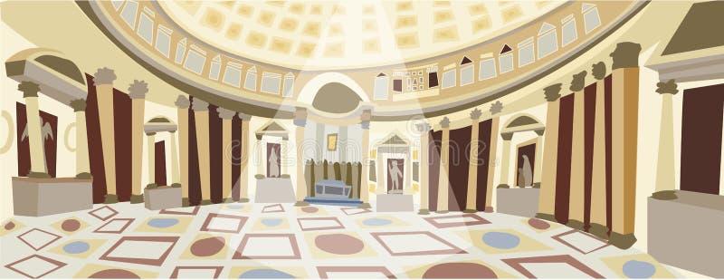 Vector de Roman Pantheon ilustración del vector