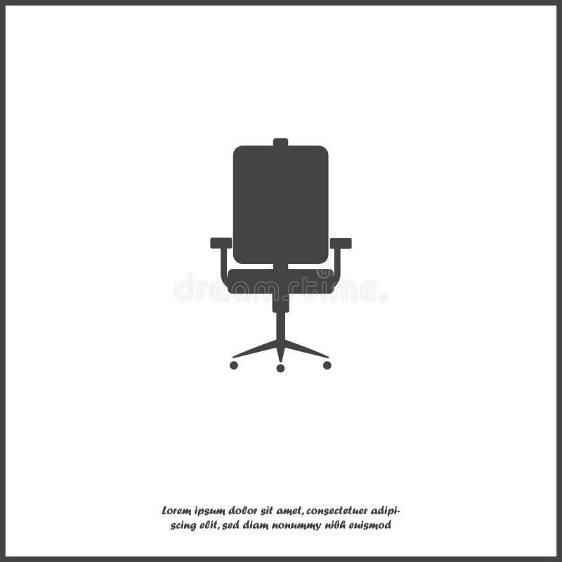 Vector de stoelpictogram van het pictogrambureau op wit geïsoleerde achtergrond Lagen voor gemakkelijke het uitgeven illustratie  vector illustratie