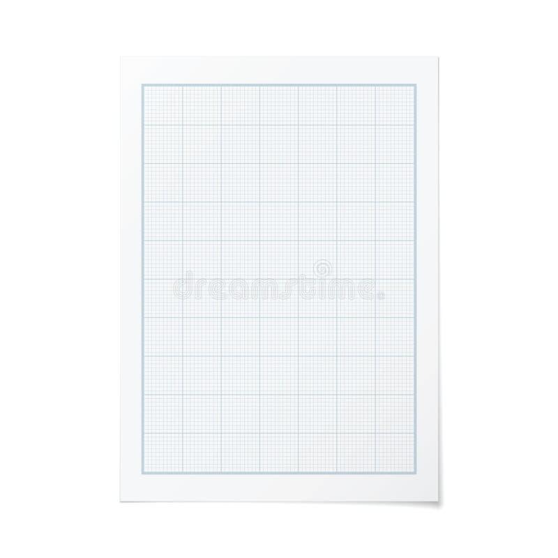 Vector de techniekmillimeterpapier van de portretrichtlijn stock illustratie