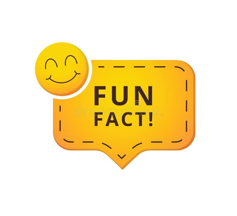 Vector de toespraakbel van het pretfeit De illustratie van het concept Grappig feit emoticon, banner voor website UI, UX-interfac vector illustratie
