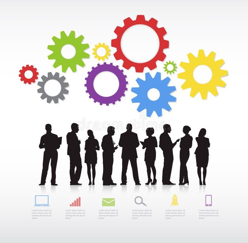 Vector de trabajo del negocio ilustración del vector
