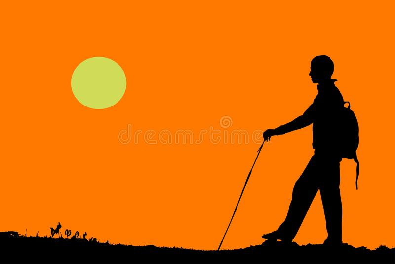 Vector de un caminante libre illustration