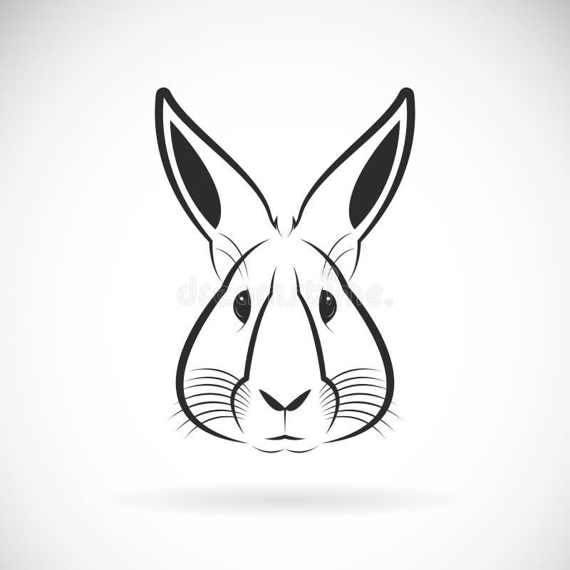 Vector de un diseño de la cabeza del conejo en el fondo blanco Animales salvajes libre illustration