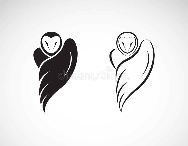 Vector de un dise?o del b?ho en un fondo blanco, Animales salvajes Logotipo o icono del p?jaro Ejemplo acodado editable f?cil del libre illustration