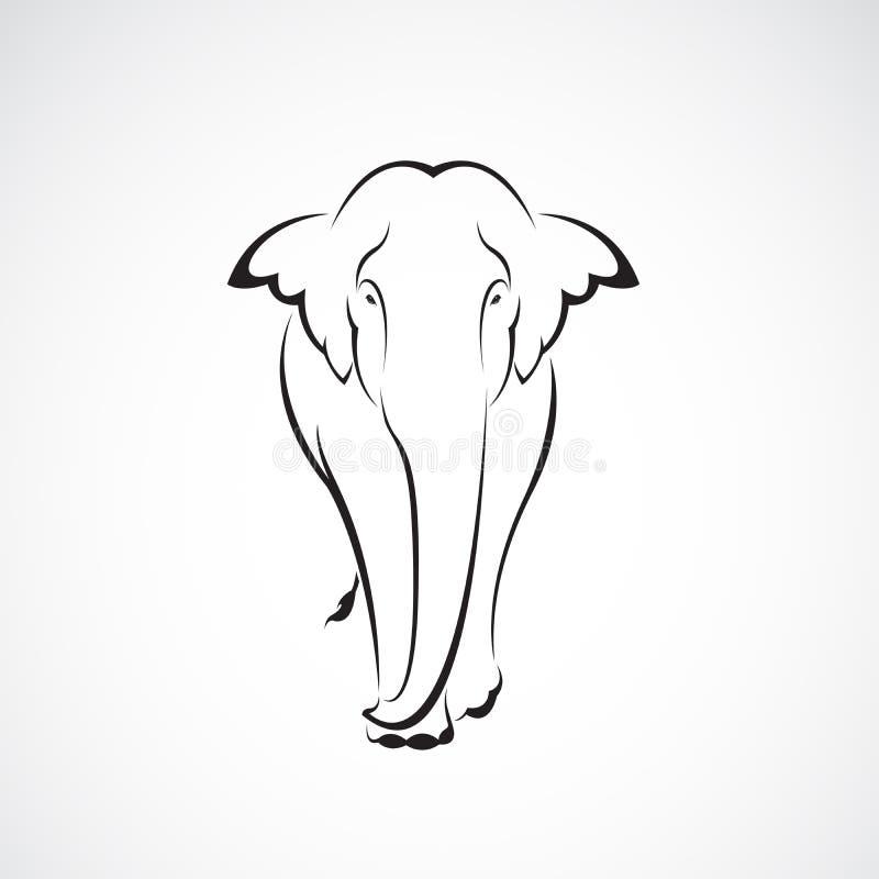 Vector de un dise?o del elefante en un fondo blanco Animales salvajes Logotipo o icono del elefante Ejemplo acodado editable f?ci ilustración del vector