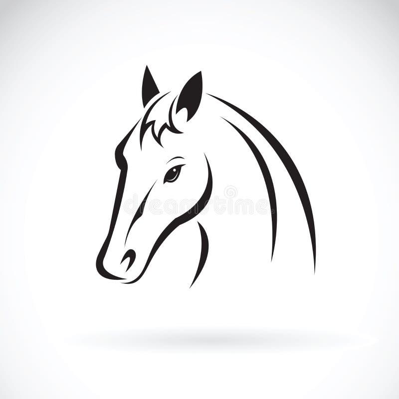 Vector de una cabeza de caballo en el fondo blanco Animal ilustración del vector