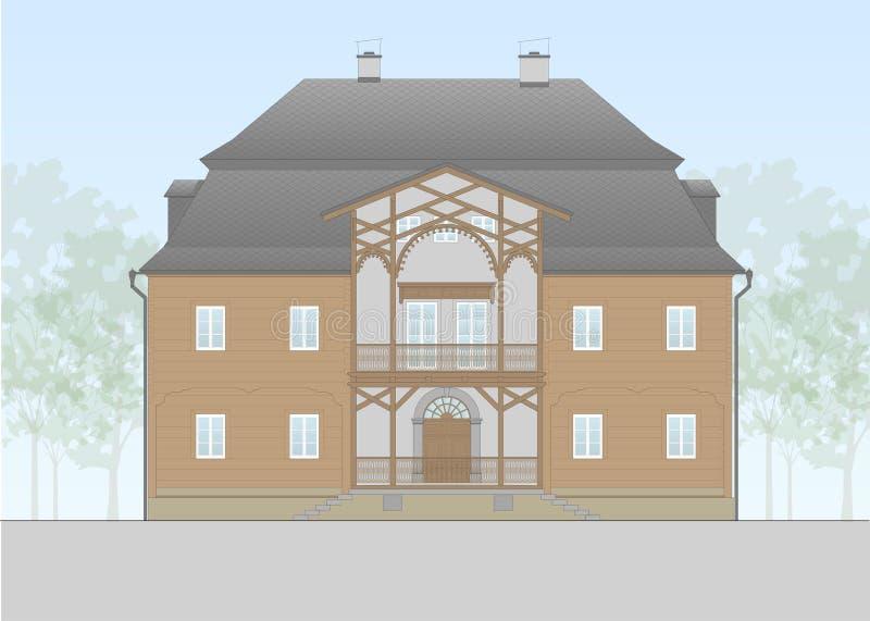 Vector de una casa barroca europian de la familia libre illustration