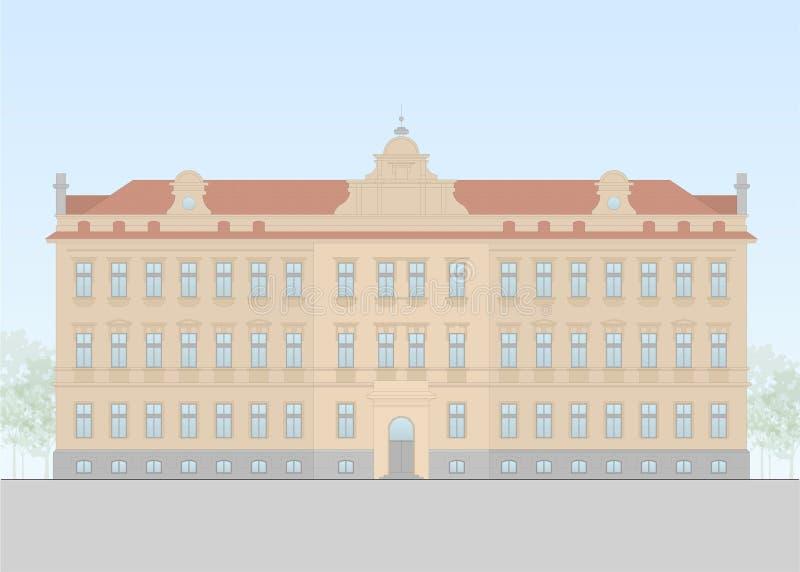 Vector de una forma europian de la escuela el principio del siglo XX libre illustration
