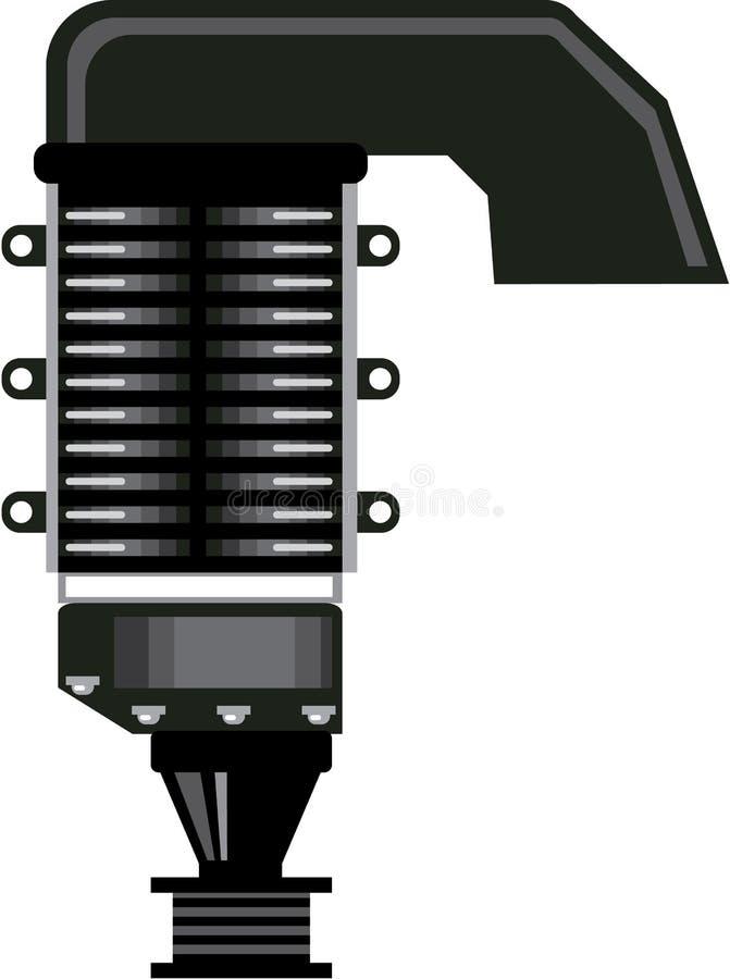 Vector de unidad del sobrealimentador stock de ilustración